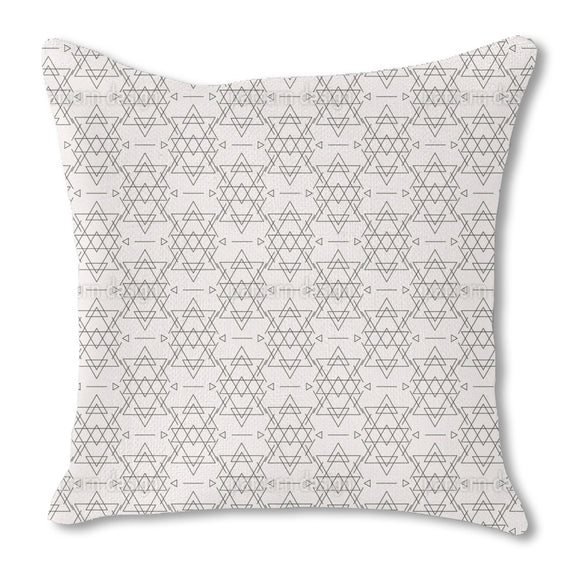 Aztec Geometry Outdoor Pillows