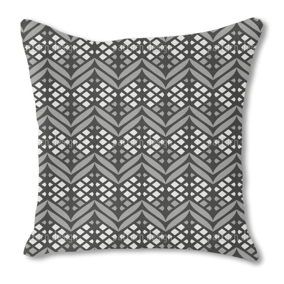 Latticed Bordures Outdoor Pillows
