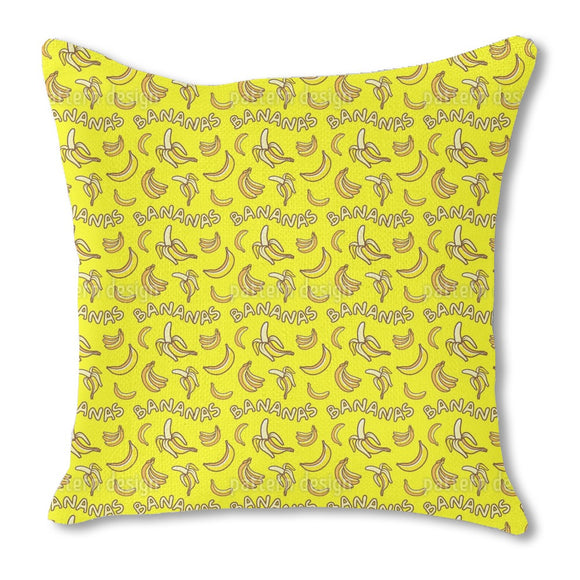 I Love Bananas Outdoor Pillows
