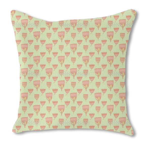 Paisley Tulips Outdoor Pillows