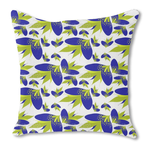 Graphical Fantasy Blossoms Outdoor Pillows