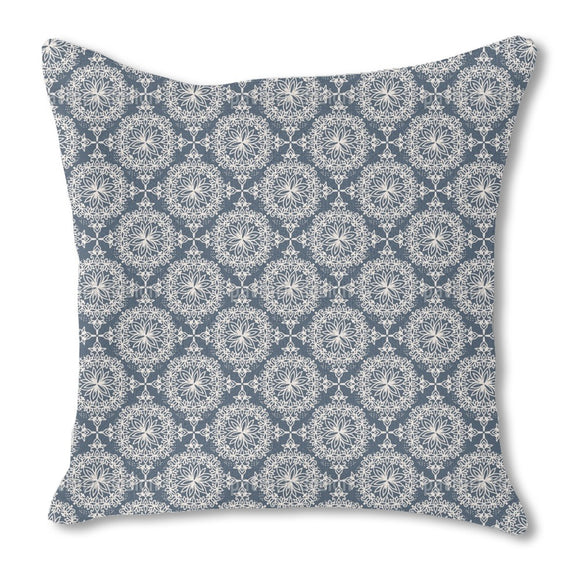 Floral Snowflakes Outdoor Pillows