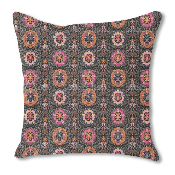 Floralie At Night Outdoor Pillows