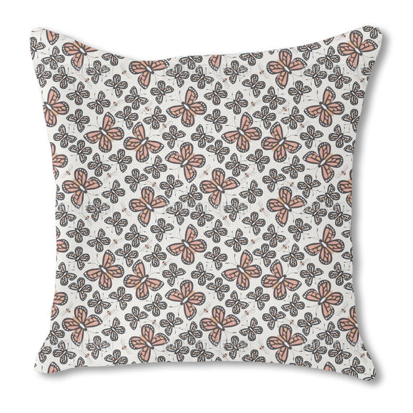 Bees And Butterflies Outdoor Pillows