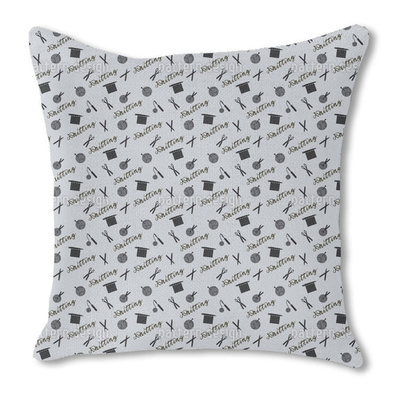 Knitting Passion Outdoor Pillows