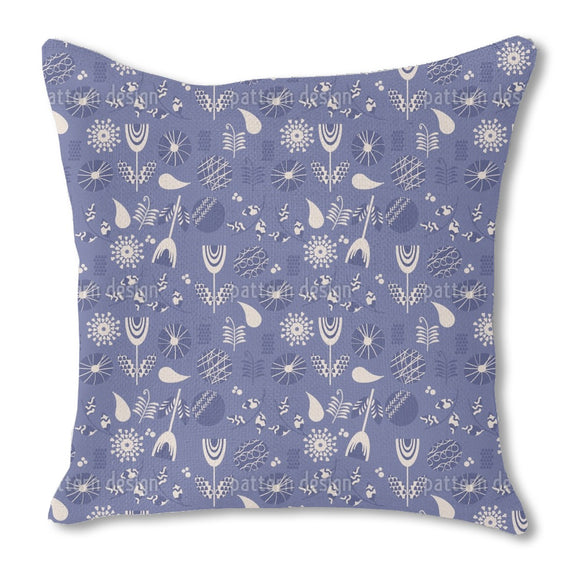 Seventies Flower Remix Outdoor Pillows