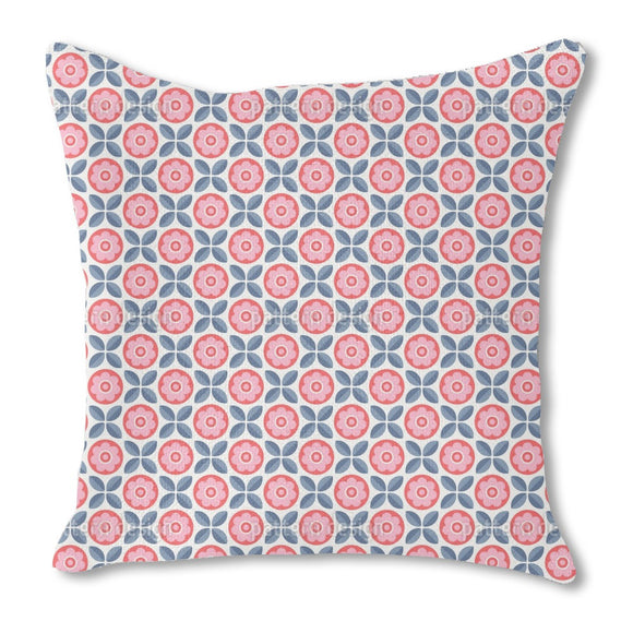 Arranged Blossoms and Leaves Outdoor Pillows