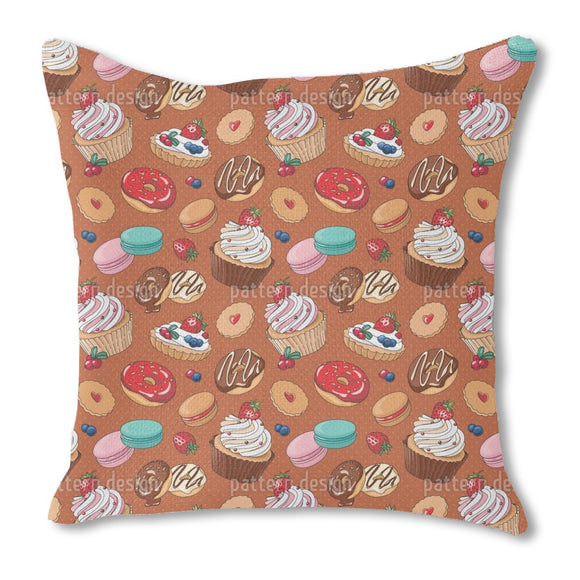 In Love With Desserts Outdoor Pillows