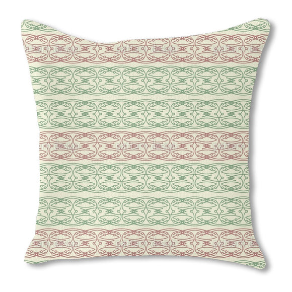 Filigreed Bordure Bows and Buds Outdoor Pillows