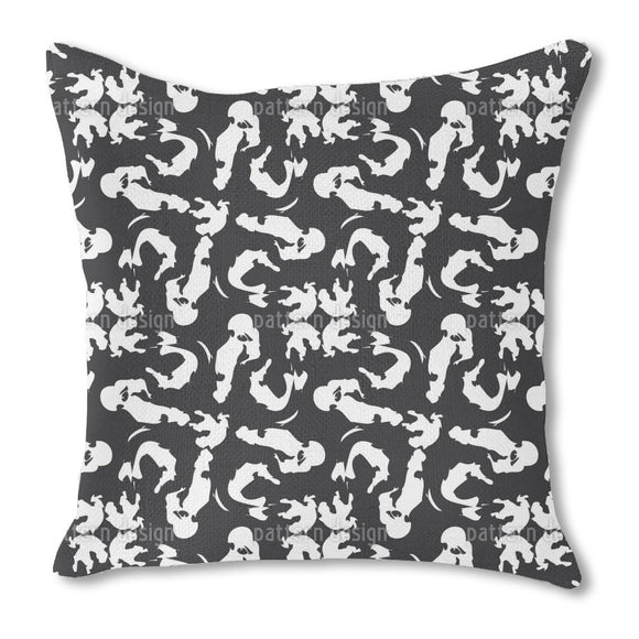 Simple Brush Strokes Outdoor Pillows