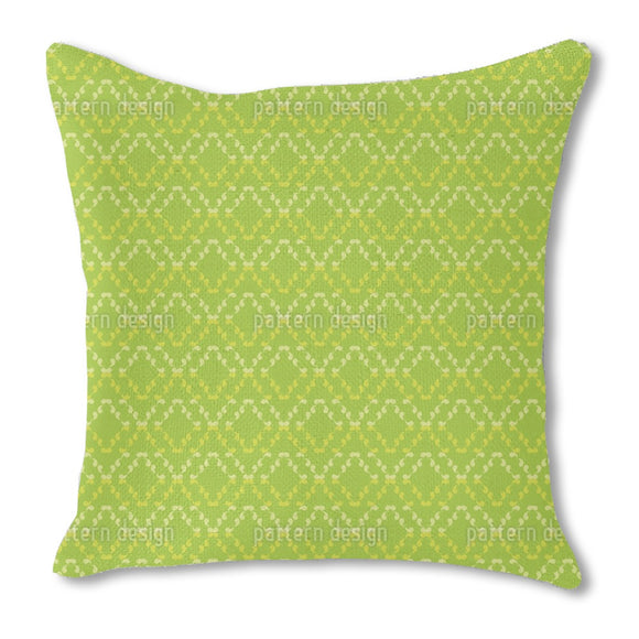 Rhombs of Curlicues Outdoor Pillows