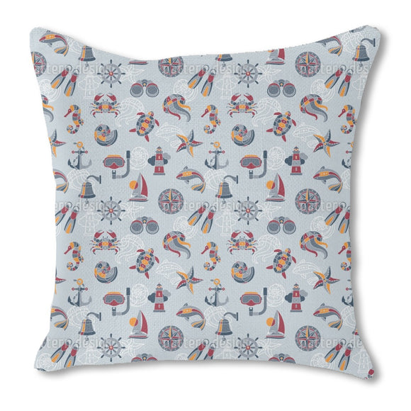 Across The Ocean Outdoor Pillows