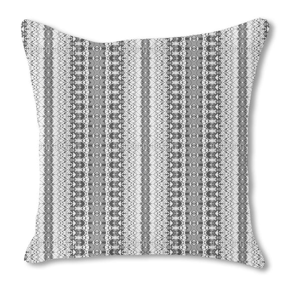 Embellished Filigree Stripes Outdoor Pillows