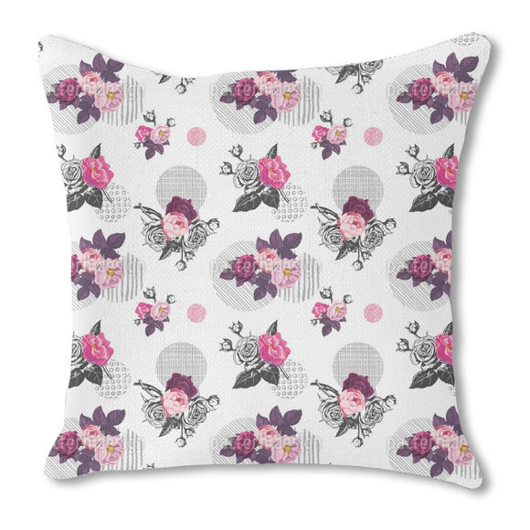Wild Rose Bouquet Outdoor Pillows