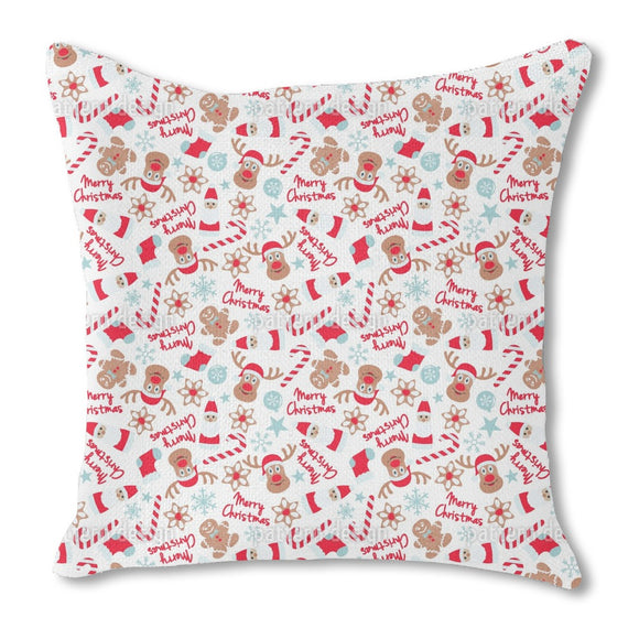 Christmas with Elks Outdoor Pillows