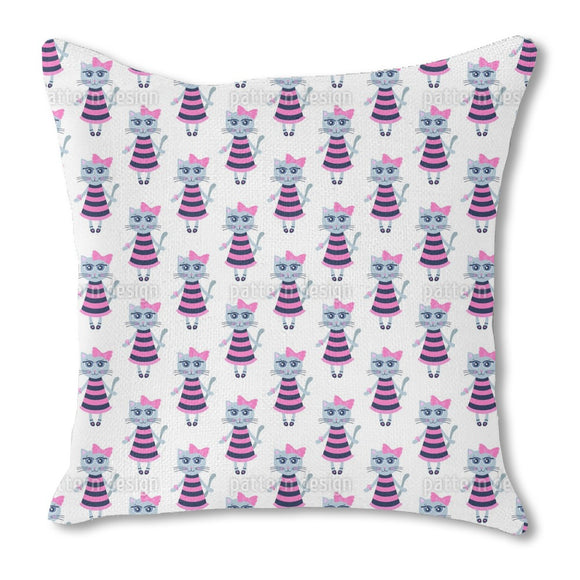 Cat girl Outdoor Pillows