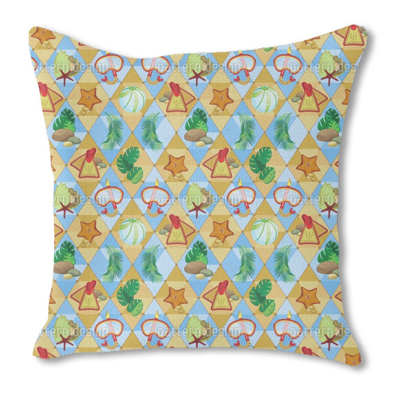 Tropical Beach Outdoor Pillows