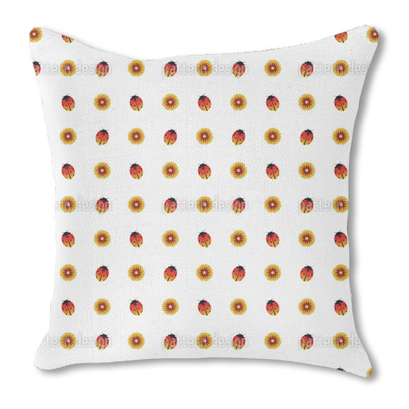 Ladybugs and Sunflowers Outdoor Pillows