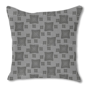 Approaching Squares Outdoor Pillows