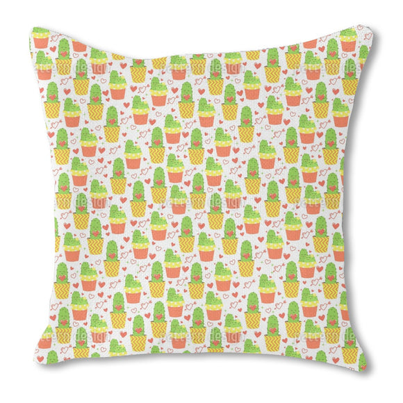 Loving cactus Outdoor Pillows