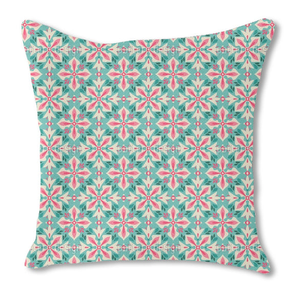 Floral Cross Outdoor Pillows