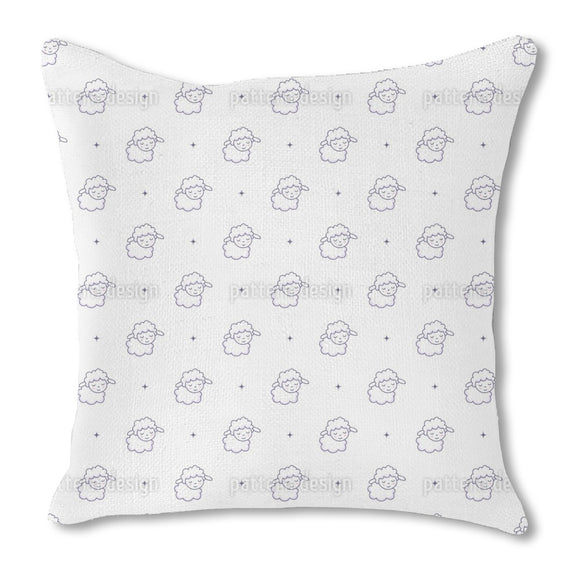 Count Sweet Sheeps Outdoor Pillows