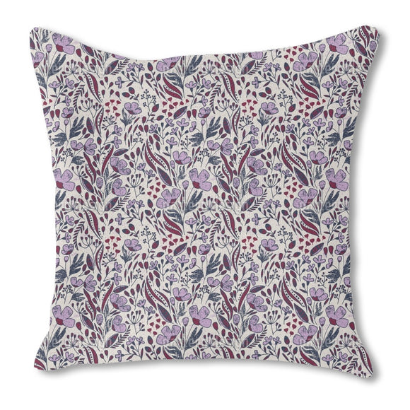 Vintage Dancing Flowers Outdoor Pillows