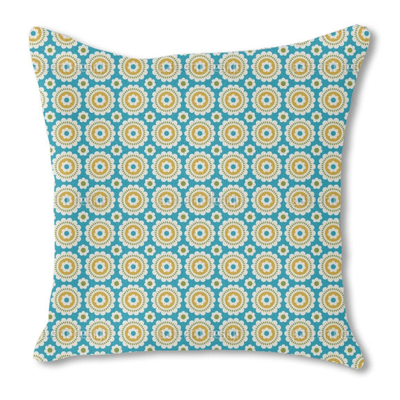 Combinations Of Flowers Outdoor Pillows