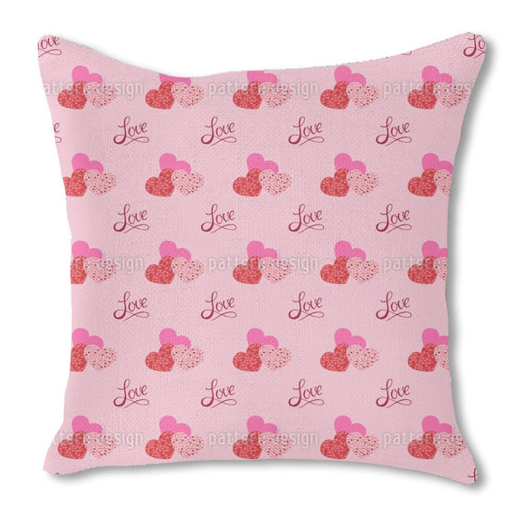 The shape of love Outdoor Pillows