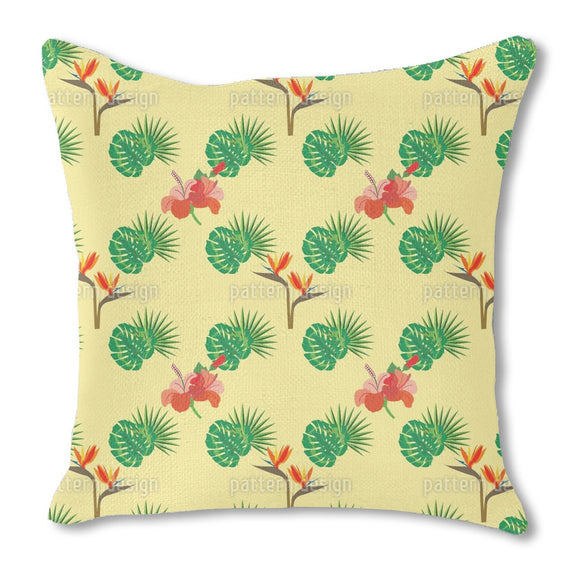 Parrot flower Outdoor Pillows
