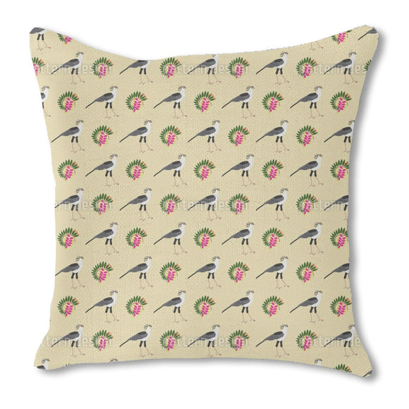African Birds And Plants Outdoor Pillows