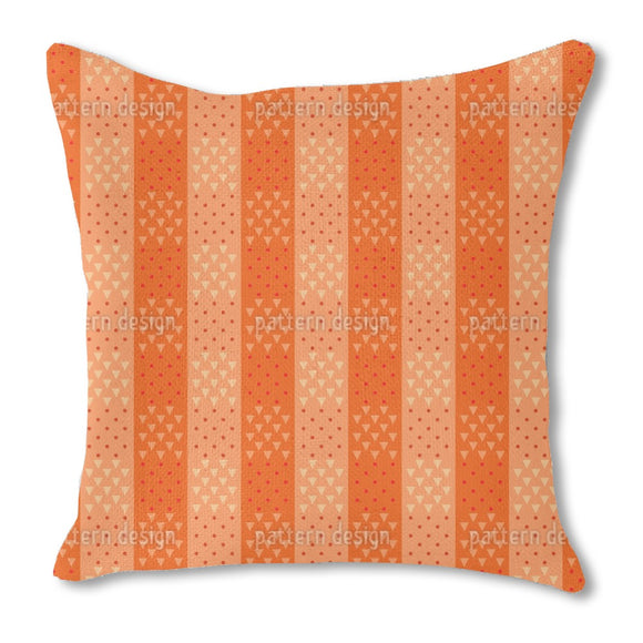 Squares of Triangles and Dots Outdoor Pillows