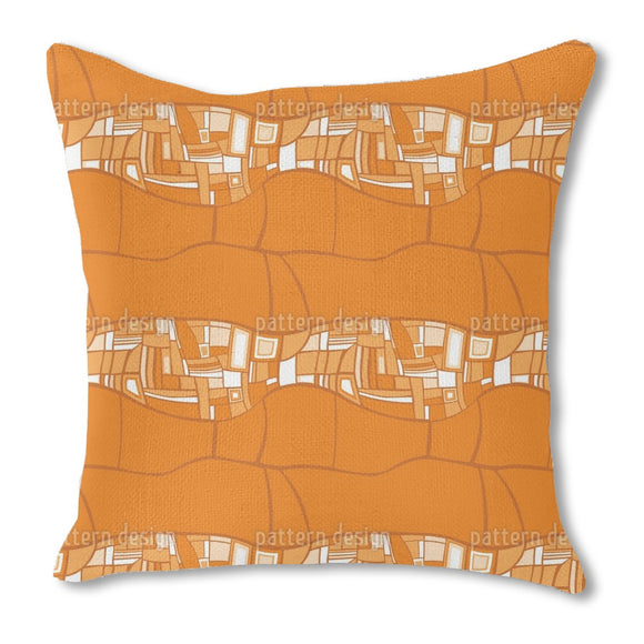Stilismo Orange Outdoor Pillows