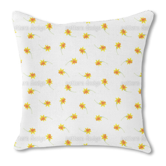 Delicate Narcissus Outdoor Pillows