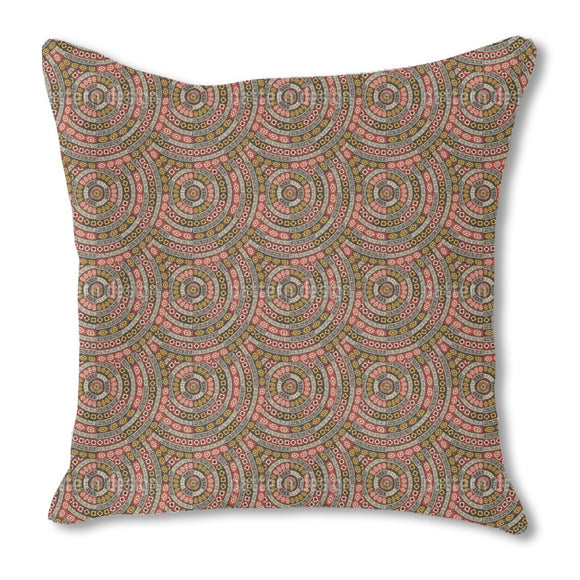 Ethno Mandala Scale Outdoor Pillows