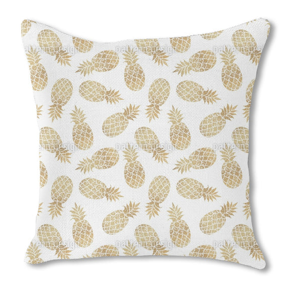 Sparkling pineapple Outdoor Pillows