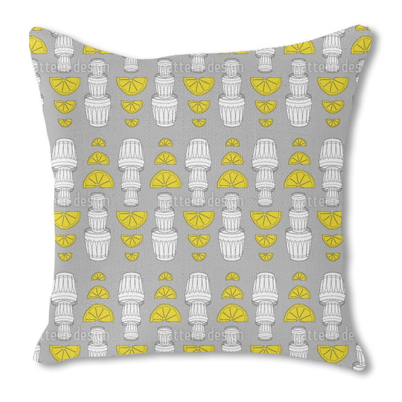 Tequila Lemon Outdoor Pillows