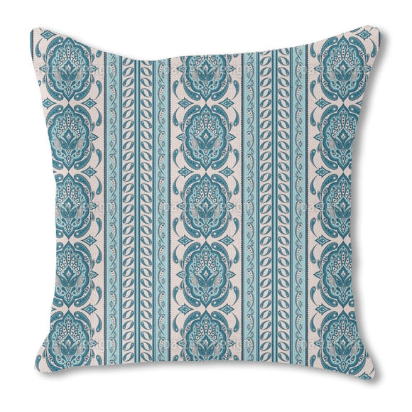 Paisley And Border Outdoor Pillows