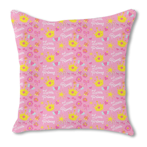Little Princess with the crown Outdoor Pillows