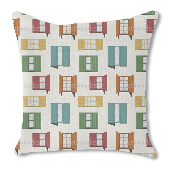 Greek Windows Outdoor Pillows