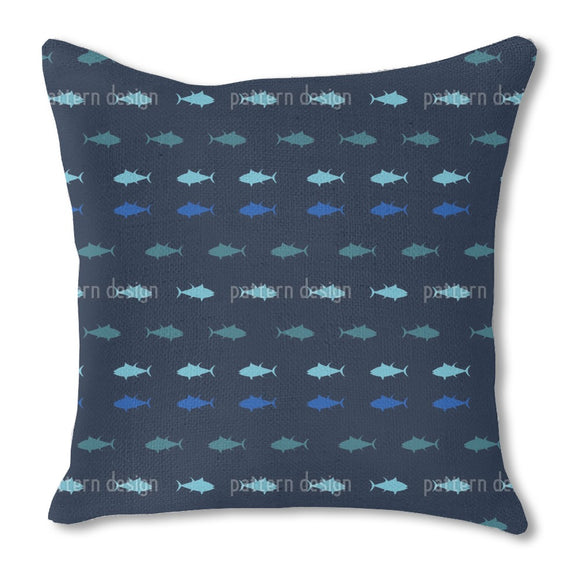 Nautical Tuna Outdoor Pillows