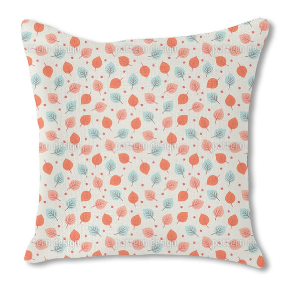 Autumn Leaves And Berries Outdoor Pillows