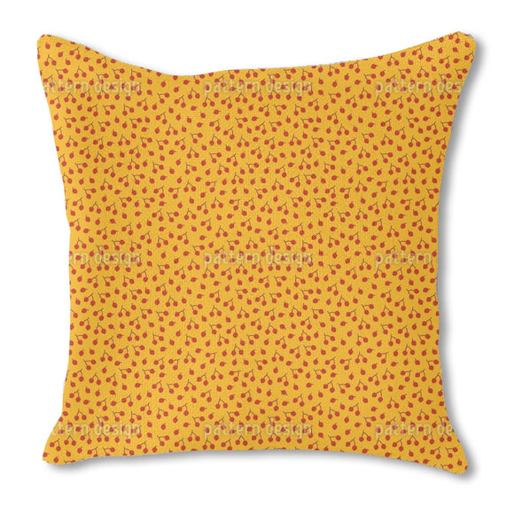 Autumnal Berry Branches Outdoor Pillows