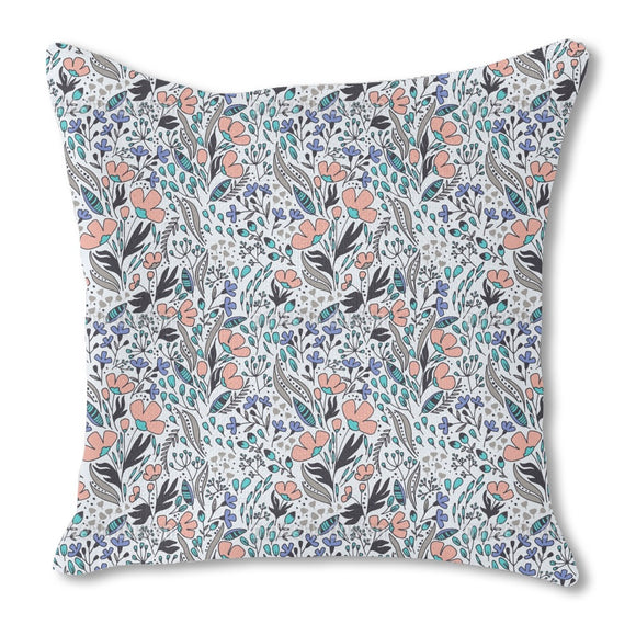 Floral Wind Outdoor Pillows
