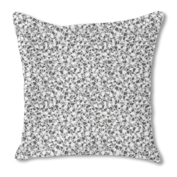 Monochrome Terrazzo Outdoor Pillows