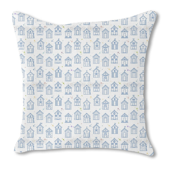 Beach Cabins Outdoor Pillows