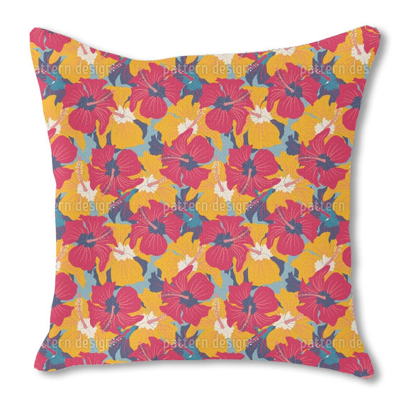 Magnificent Hibiscus Outdoor Pillows