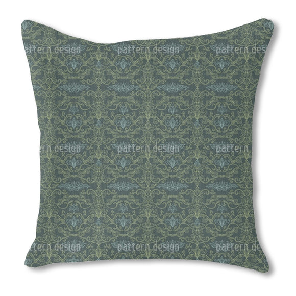 Damask Flourishes Outdoor Pillows