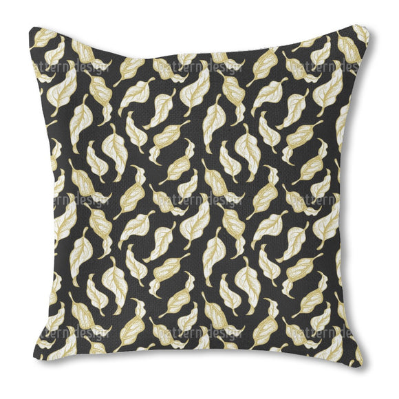 Elegance Of Leafs Outdoor Pillows