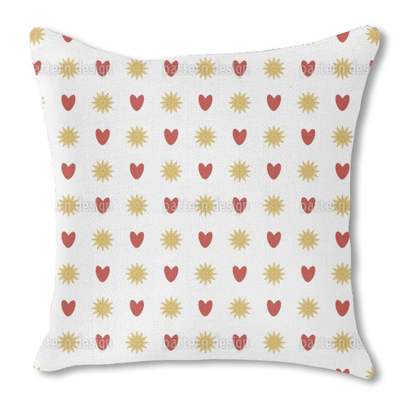 Suns And Hearts Outdoor Pillows